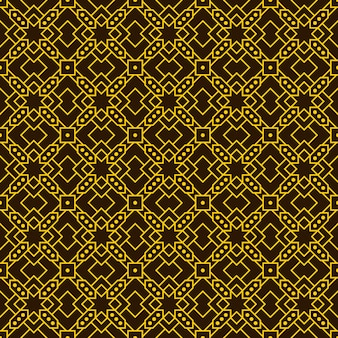 Geometric ethnic batik seamless pattern wallpaper background in gold color