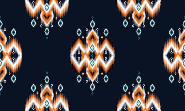Geometric ethnic ikat pattern oriental traditional design for background.