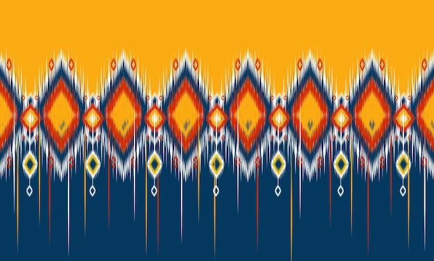 Геометрический узор этнических икат восточный традиционный дизайн для фона.