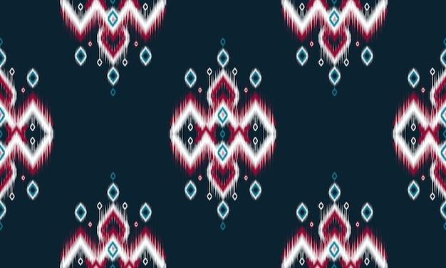 Геометрический узор этнических икат восточный традиционный дизайн для фона. Premium векторы