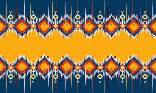 背景の幾何学的な民族絣パターン東洋の伝統的なデザイン。 Premiumベクター