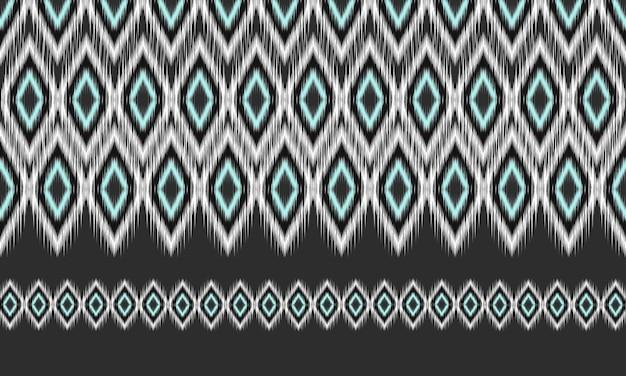 幾何学的な民族オリエンタル絣の背景
