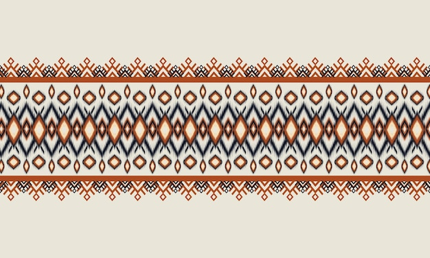 Geometric ethnic oriental ikat pattern traditiona