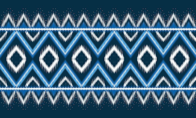 Geometric ethnic oriental ikat pattern traditional for background
