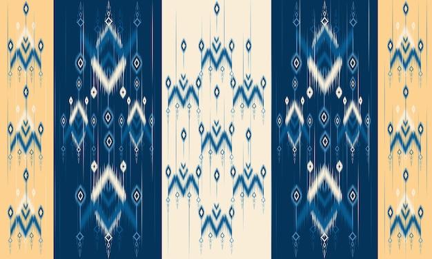Геометрический этнический восточный узор икат традиционный дизайн для фона, ковер, обои, одежда, упаковка, батик, ткань, стиль векторные иллюстрации. вышивка.