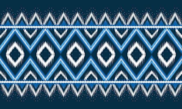 背景に伝統的な幾何学的なエスニックオリエンタルイカットパターン
