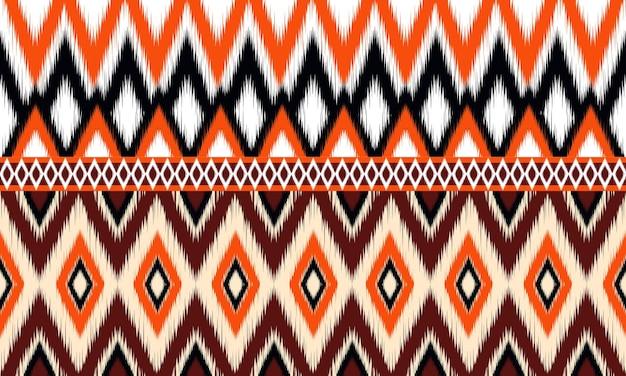 Geometric ethnic oriental ikat pattern traditional