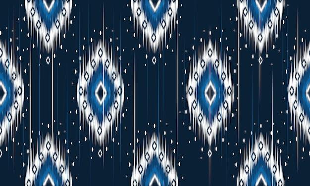 伝統的な幾何学的な民族オリエンタルイカットパターン