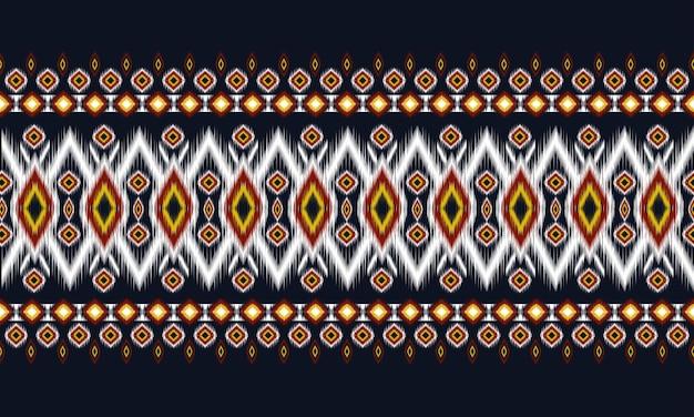 Геометрический этнический восточный узор икат традиционный
