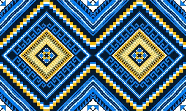 Geometric ethnic oriental ikat seamless pattern.