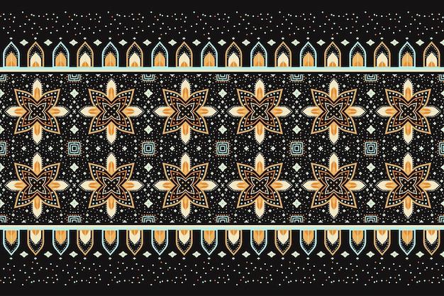 기하학적 민족 동양 완벽 한 패턴 디자인 일러스트 레이 션