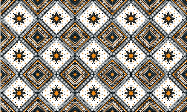 Геометрические этнические восточные бесшовные модели традиционный дизайн для фона, ковер, обои, одежда, упаковка, батик, ткань, стиль векторные иллюстрации. вышивка.