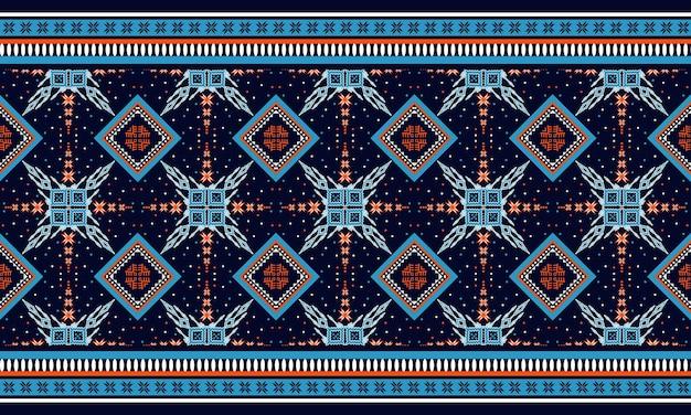 Геометрические этнические восточные бесшовные модели традиционный дизайн для фона