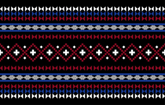 기하학적 민족 동양 원활한 패턴 전통적인 프리미엄 벡터