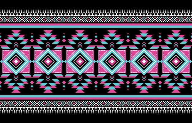 기하학적 민족 동양 원활한 패턴 전통적인