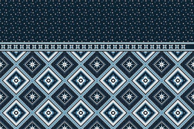 幾何学的な民族オリエンタルシームレスパターン。
