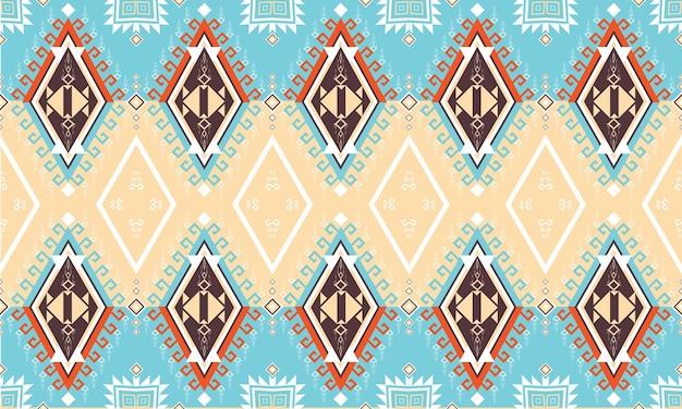 幾何学的な民族パターン。カーペット、壁紙、衣類、ラッピング、バティック、ファブリック、ベクトルイラスト刺繡スタイル。