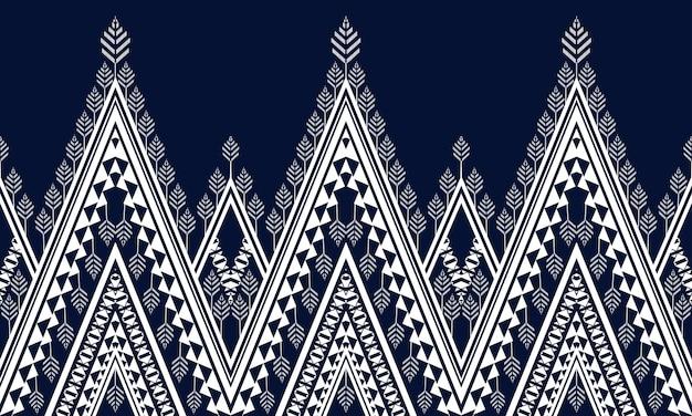 シームレスな背景のための幾何学的な民族パターンのデザイン。