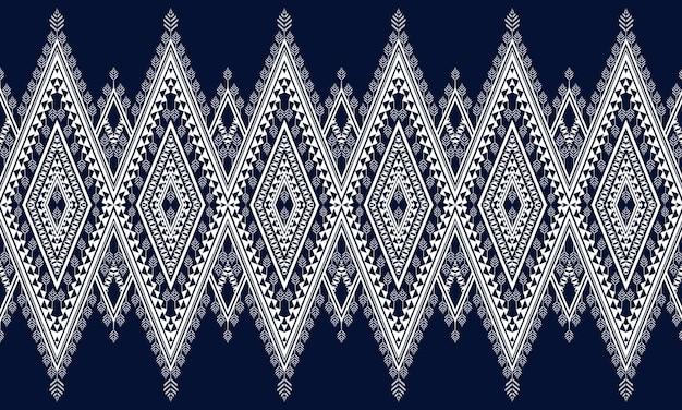 Геометрический дизайн этнического образца для бесшовного фона. Premium векторы