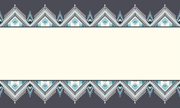 Геометрический дизайн этнического образца для бесшовного фона.