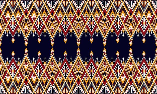 Геометрический этнический узор вышивки. ковер, обои, одежда, упаковка, батик, ткань, стиль вышивки векторные иллюстрации.