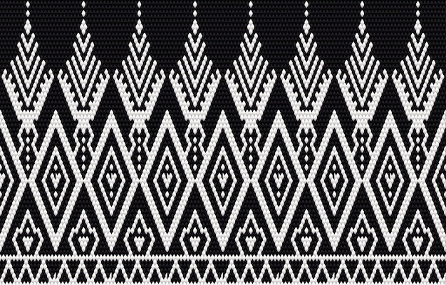 Geometric ethnic pattern embroidery and traditional design. tribal ethnic  texture. design for carpet, wallpaper, clothing, wrapping, batik, fabric in embroidery style in ethnic themes.