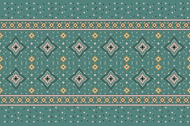 幾何学的な民族パターンオリエンタル。生地、背景、壁紙のシームレスなパターン