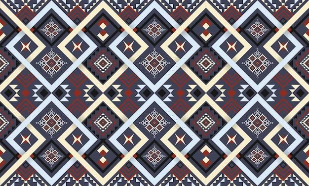 オリエンタルな幾何学模様。シームレスなパターン。