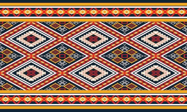 幾何学的な民族パターンオリエンタル。シームレスパターン