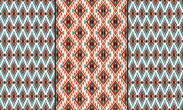 東洋の幾何学的な民族パターン。シームレスパターン