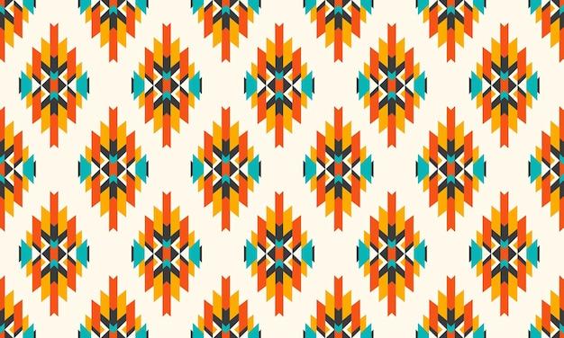 幾何学的な民族パターン東洋のシームレスなパターン。