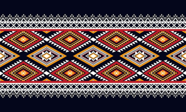 Geometric ethnic pattern seamless. design for background,carpet,wallpaper,clothing,wrapping,batik,fabric,vector illustration.embroidery style.