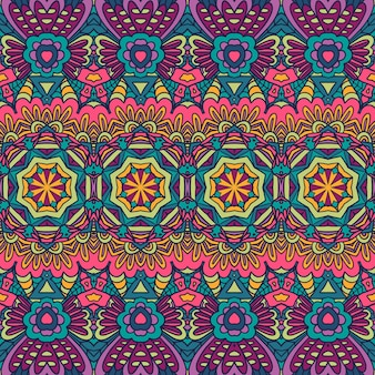 기하학적 민족 인쇄 추상 장식 벡터 원활한 장식 패턴