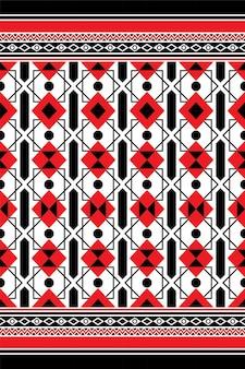 幾何学的な生地のシームレスなパターンのモダンなデザインのベクトル図