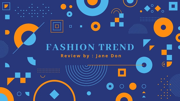 Geometric fashion youtube channel art