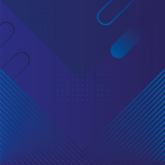 기하학적 수치와 라인 블루 배경