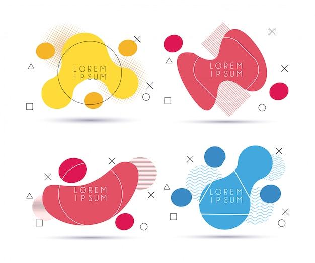 Геометрические фигуры в абстрактный баннер