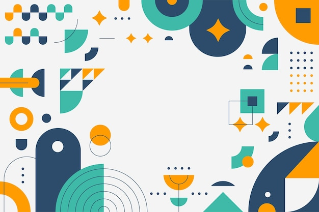 Geometric flat abstract background