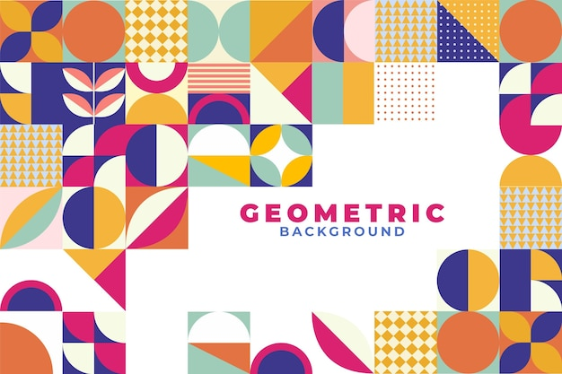 Geometric flat mosaic background