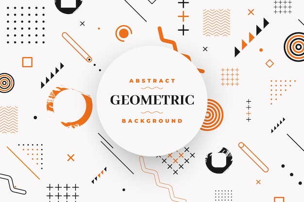 Geometric flat shapes background
