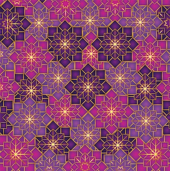 Geometric flowers pattern decoration