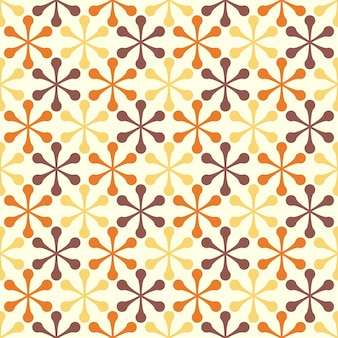 Geometric flowers retro seamless pattern design