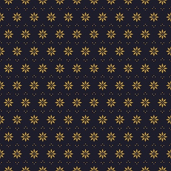 Geometric flowers seamless pattern background wallpaper in batik style
