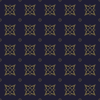 Geometric flowers seamless pattern background wallpaper
