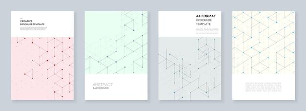Geometric flyer template set