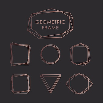 Geometric frames black goldrose