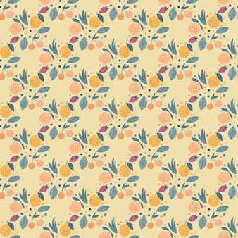 Geometric fruits seamless pattern
