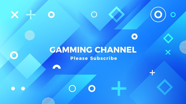Geometric gaming youtube channel art