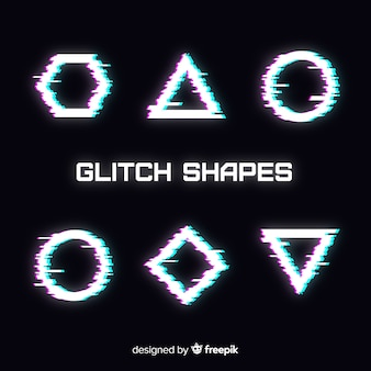 Geometric glitch collection