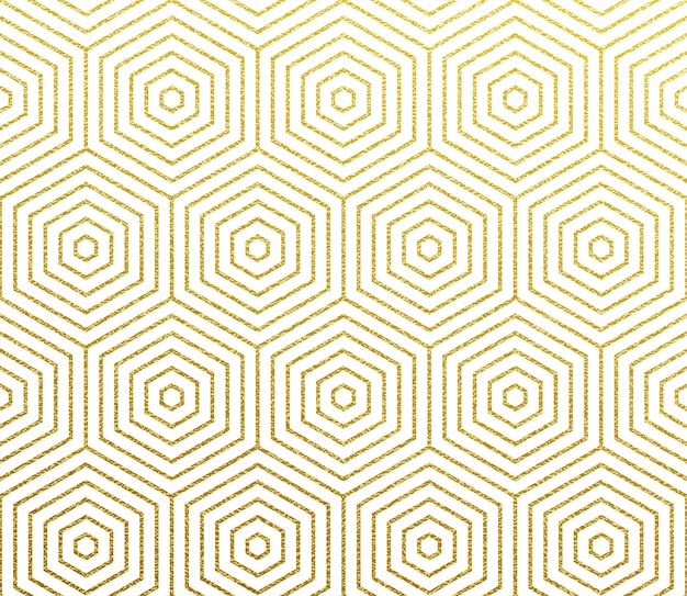 Geometric gold abstract  pattern background